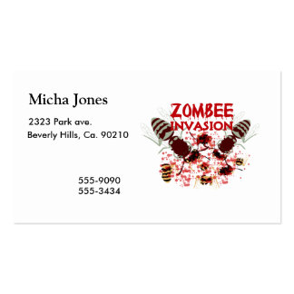 Invasion Of The Zombees Pack Of Standard Business Cards
