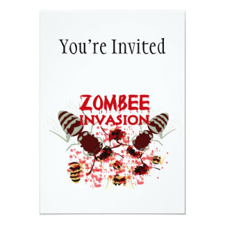 Invasion Of The Zombees Invite