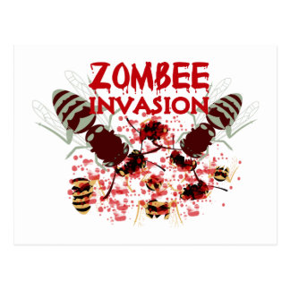 Invasion Of The Zombees Postcard