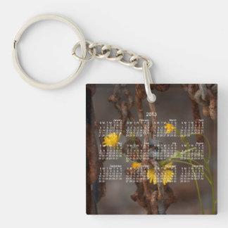 Invasive Flower; 2013 Calendar Single-Sided Square Acrylic Key Ring
