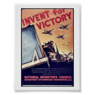 Invent For Victory Poster