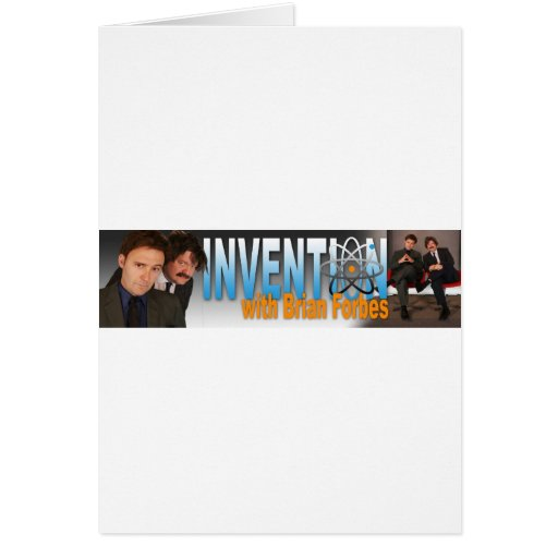 Invention with Brian Forbes Logo Greeting Card