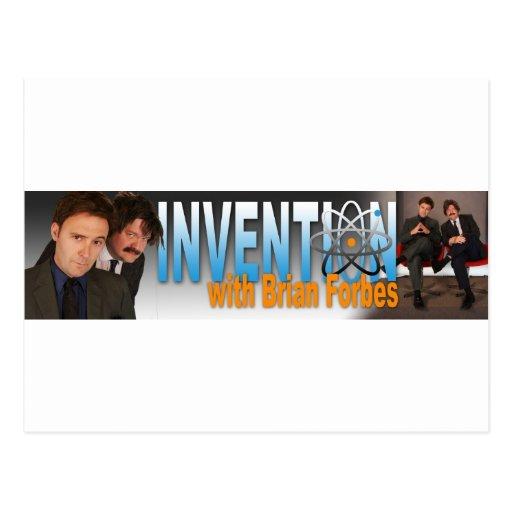 Invention with Brian Forbes Logo Postcards