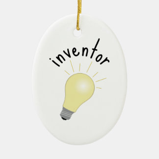 Inventor Ceramic Ornament