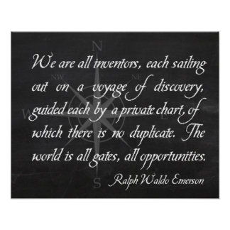 Inventors - Emerson Quote Inspirational Poster