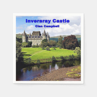 Inveraray Castle - Clan Campbell Paper Napkin