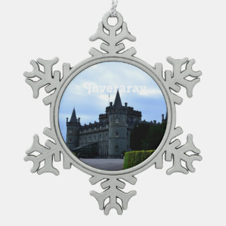 Inveraray Castle in Argyll Snowflake Pewter Christmas Ornament
