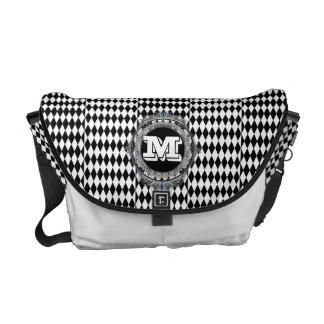 Inverse Diamonds Monogram Messenger Bag