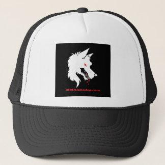 inverse logo trucker hat