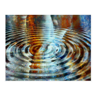 Inverse Reflection Water Painting. Postcard