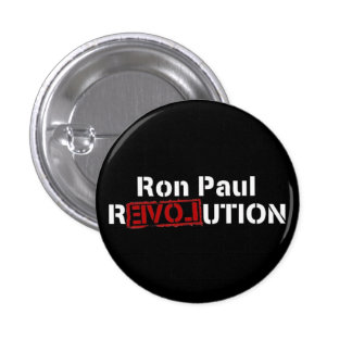 inverse ron paul revolution 3 cm round badge