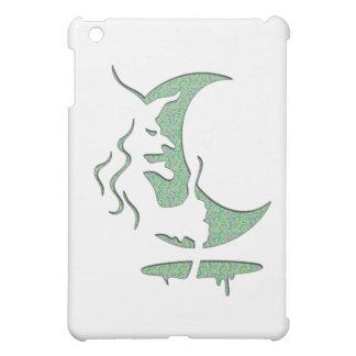 "Inversion Art ""Evil witch"" - Green Dots / white iPad Mini Cover"