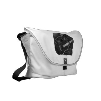 invert acoustic guitar player sit grey messenger bags