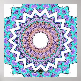 Invert Conflicted Mandala Poster