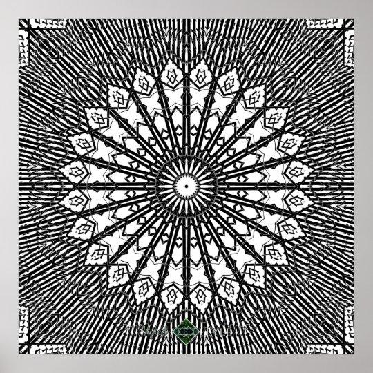Invert Looking Glass Mandala Poster