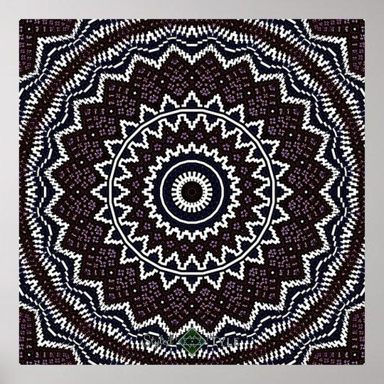 Invert Mosaic Mandala 2 Poster