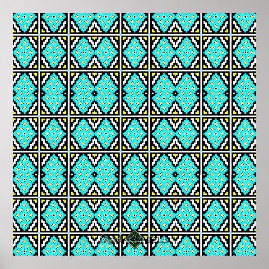 Invert Mosaic Wallpaper ( Large ) Poster