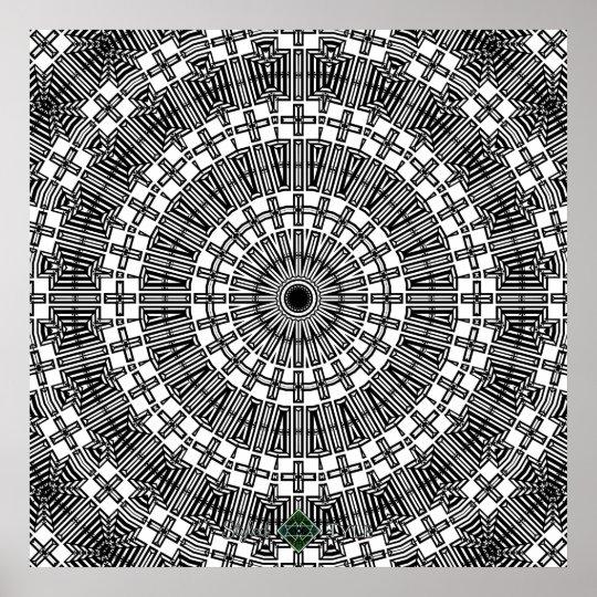 Invert Reflect Mandala Poster