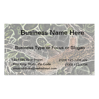invert tree frog in tree painting cute animal business card templates