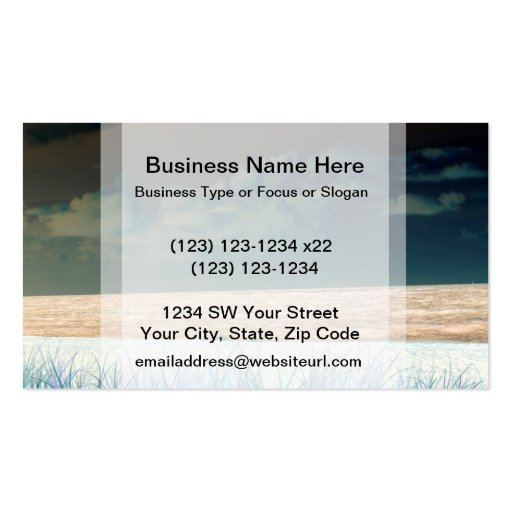 inverted beach sky neat abstract florida shore business card