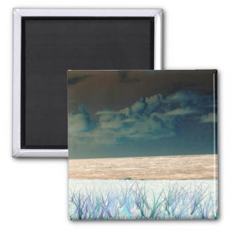inverted beach sky neat abstract florida shore fridge magnet