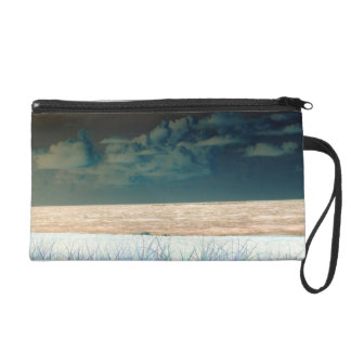 inverted beach sky neat abstract florida shore wristlet