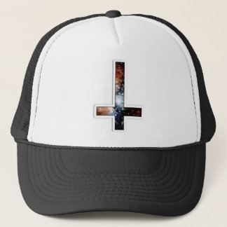 Inverted Cross Galaxy Cosmic Universe Trucker Hat