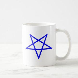 Inverted pentagram coffee mug