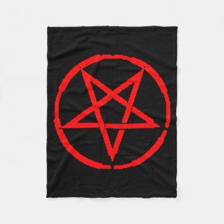 Inverted Pentagram Fleece Blanket
