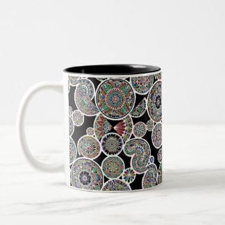 Inverted Royal Mandalas Two-Tone Coffee Mug