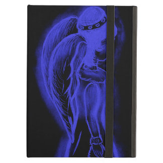 Inverted Sideways Angel in Black and Royal Blue iPad Air Covers