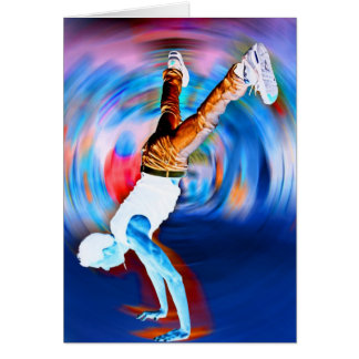 Inverted Street Dancing! Greeting Card