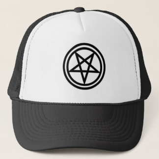 invertedpentagram,w trucker hat