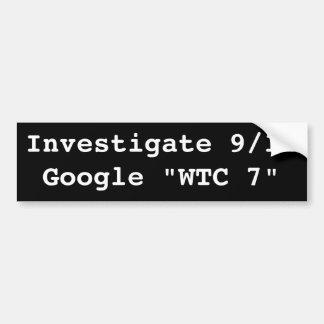 Investigate 9/11 bumper sticker