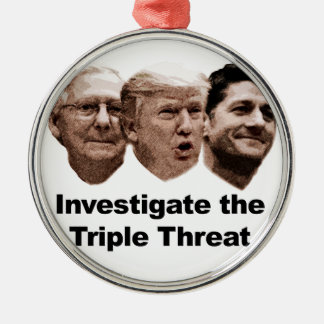 Investigate the Triple Threat Metal Ornament
