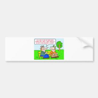 investment consultant quarter bumper sticker