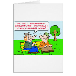 investment consultant quarter card