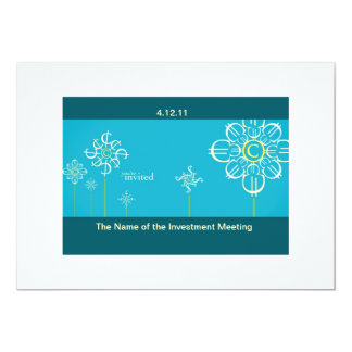 Investment Meeting Invitation Card