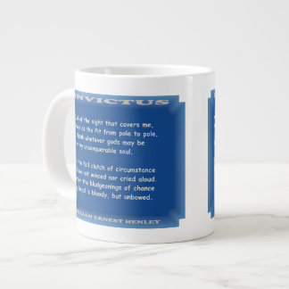 Invictus by William Ernest Henley Large Coffee Mug