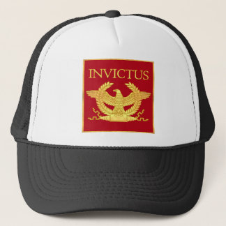 Invictus Eagle on Red Trucker Hat