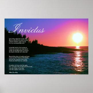 Invictus Inspirational Poem Canvas Posters