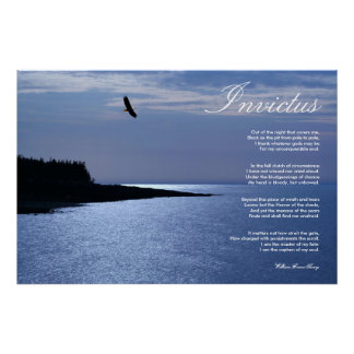 Invictus Inspirational Poem Canvas Print