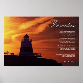 Invictus Inspirational Poem Print