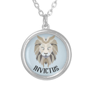 "Invictus latin for ""unconquered"" necklace"