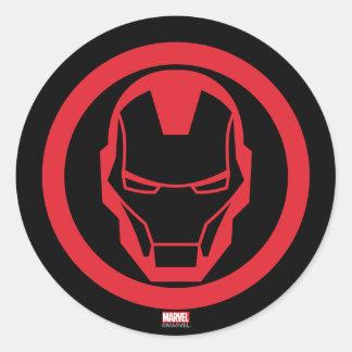 Invincible Iron Man Round Sticker