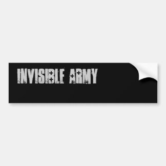 invisible arMy buMper sticker