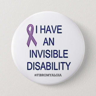 Invisible Disability 7.5 Cm Round Badge