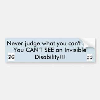 Invisible Disability Awareness Bumper Sticker