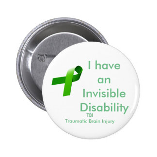 Invisible Disablility 6 Cm Round Badge