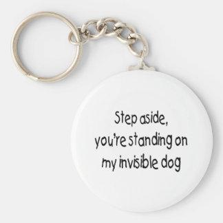 Invisible Dog Basic Round Button Key Ring